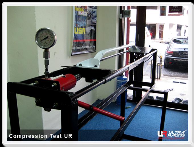 Ultra Racing Strut bar compression test